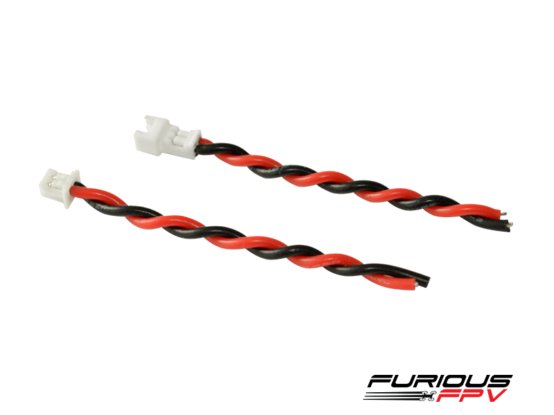 FuriousFPV JST 1.25 2-pin Connector with Silicon wires (male&female)