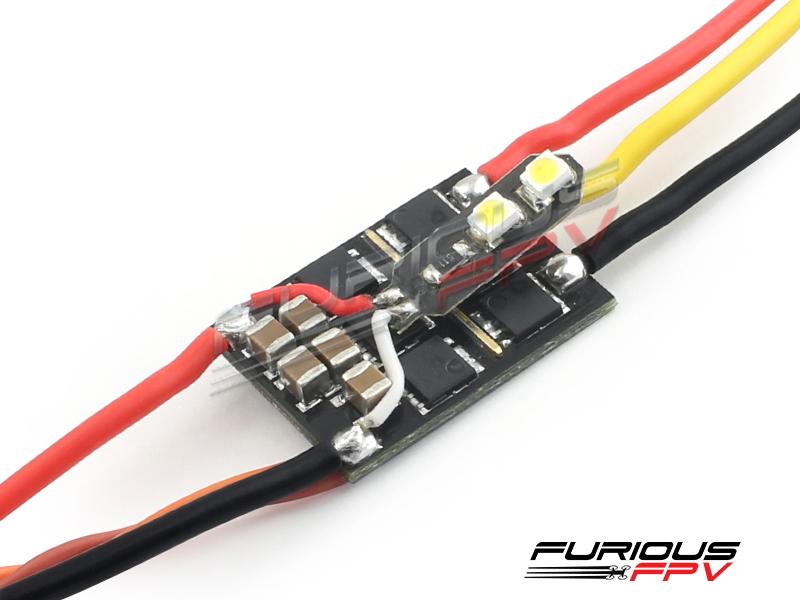 Furious FPV SILKY32 25A 32bit 48Mhz ESC w/ White  LED