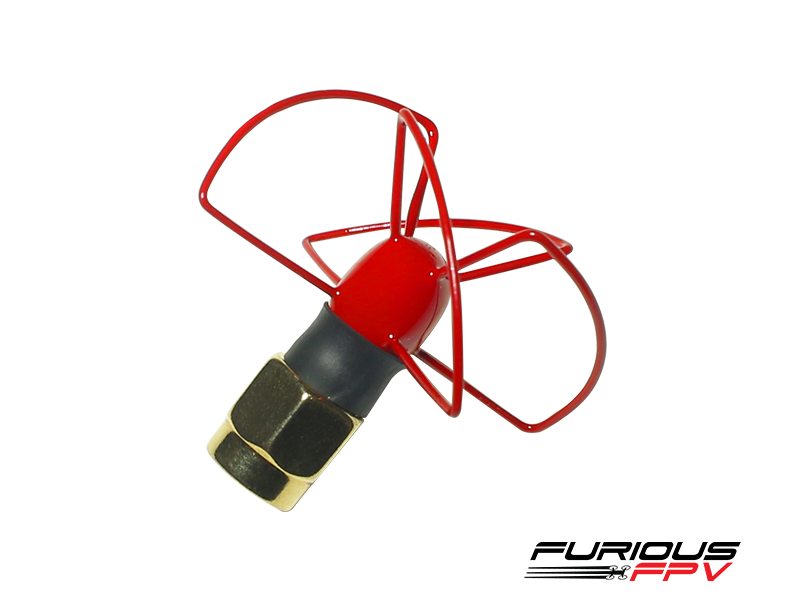 Furious FPV Antenna Pinwheel - LHCP - SMA (Red)