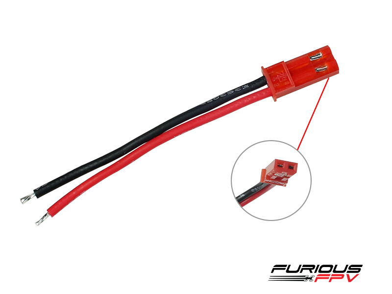 Furious FPV JST battery connector (male-2pcs)