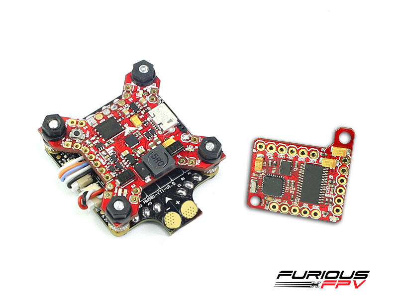 FuriousFPV combo FORTINI F4 Camera Control Edition + Piggy OSD V2 + ESC Hobbywing 4in1 40A