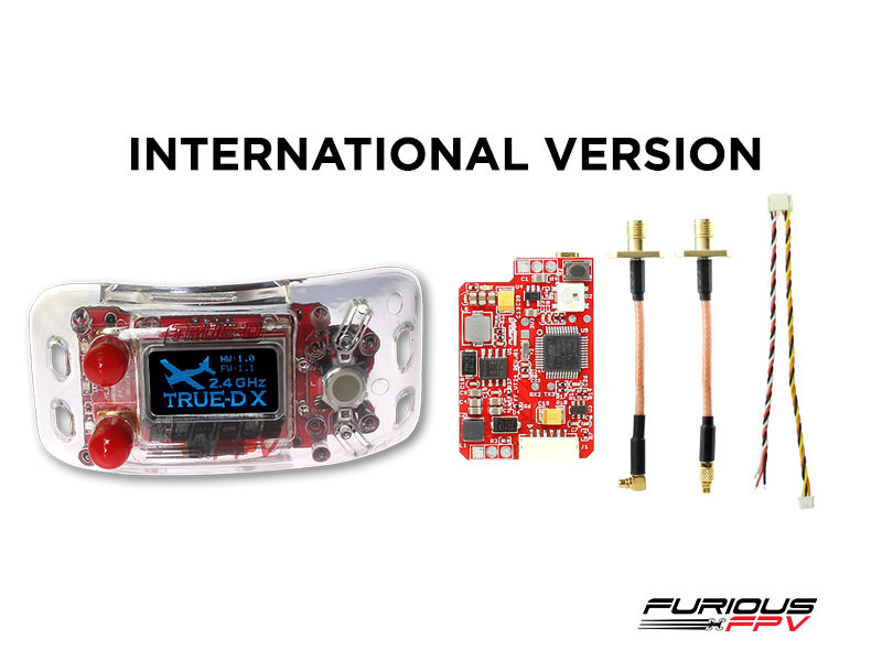 FuriousFPV Combo TrueD-X 2.4G + VTX Long Range 2.4G - Clarity Redefined