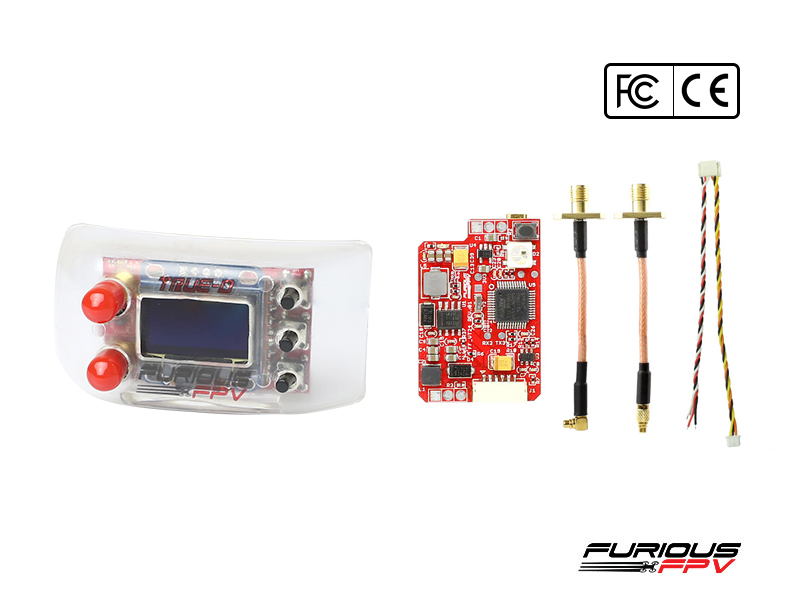 FuriousFPV Combo TrueD 2.4GA + VTX Long Range 2.4G - FCC Version(FatShark Attitude Version)