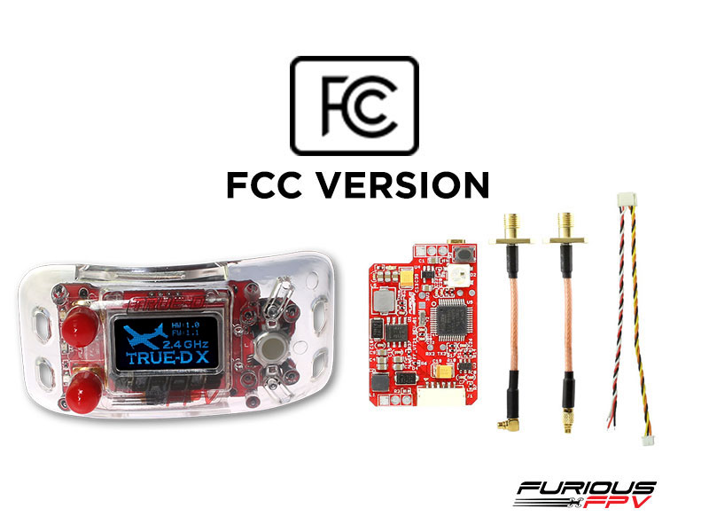 FuriousFPV Combo TrueD 2.4G-X + VTX Long Range 2.4G - FCC Version - Clarity Redefined