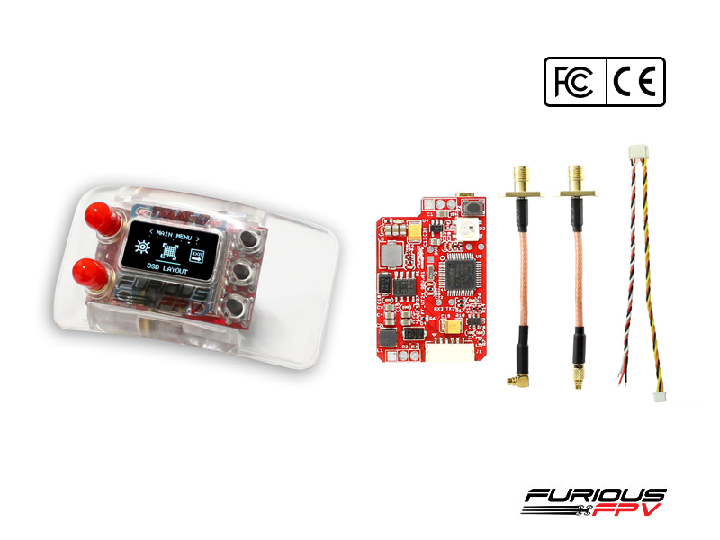 FuriousFPV Combo TrueD 2.4G + VTX Long Range 2.4G - FCC Version - Clarity Redefined