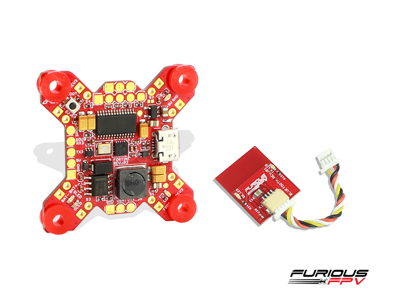 FuriousFPV - FORTINI F4 OSD 32Khz Flight Controller Rev.3 with Bluetooth module