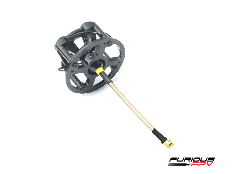 FuriousFPV LHCP 48mm Stubby Antenna with Cover - Black