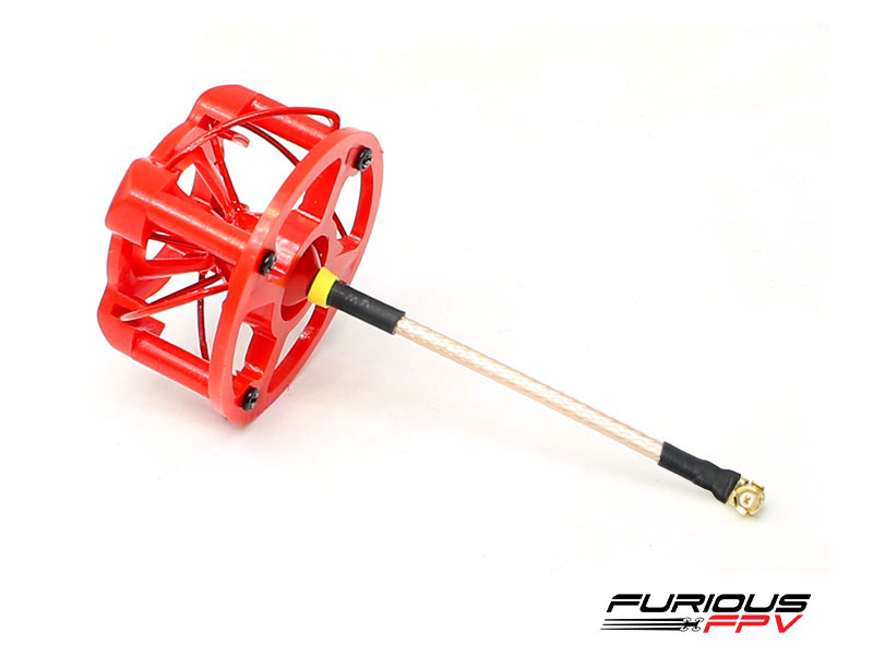 FuriousFPV LHCP 48mm Stubby Antenna with Cover - Red