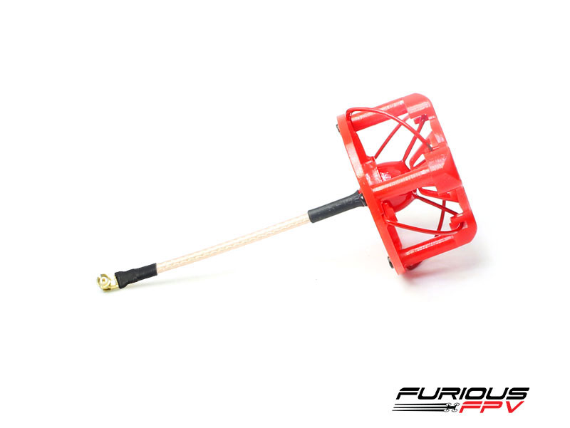FuriousFPV RHCP 48mm Stubby Antenna with Cover - Red