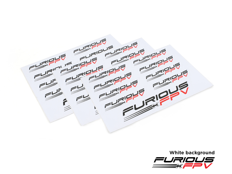 Furious FPV Sticker 105 x 150mm (3pcs) - white background