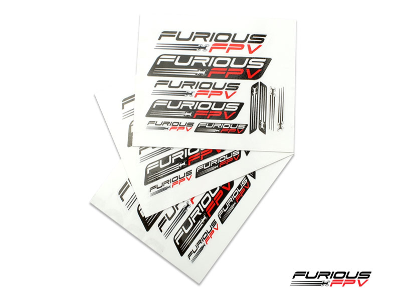 Furious FPV Stickers 105 x 150mm (3pcs) - transparent background