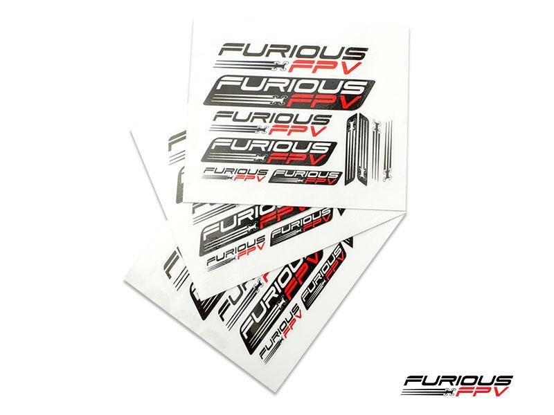 Furious FPV Stickers 105 x 150mm (3pcs) - transparent background