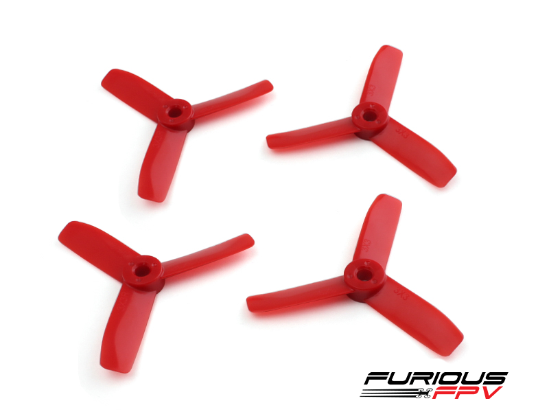 Furious FPV 3030 3-blade (2CW & 2CCW)propeller (Red) - Toretto 130