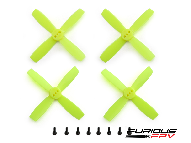 FuriousFPV High Performance  2435-4 Propellers (Neon Yellow 2CW & 2CCW)