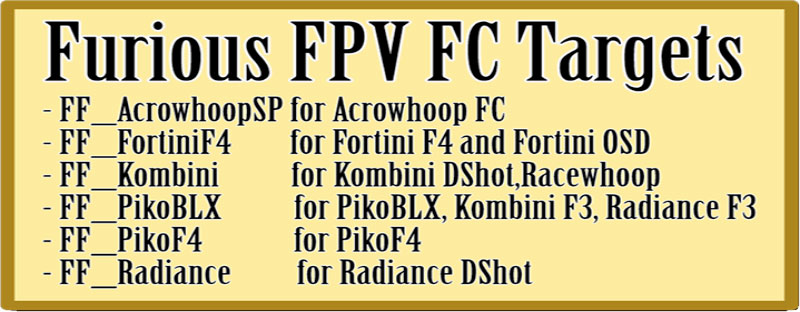 FORTINI F4 OSD 32Khz Flight Controller Rev 2, FURIOUS FPV